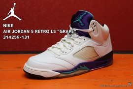 "NIKE AIR JORDAN 5 RETRO LS ""GRAPE"" 314259-131"