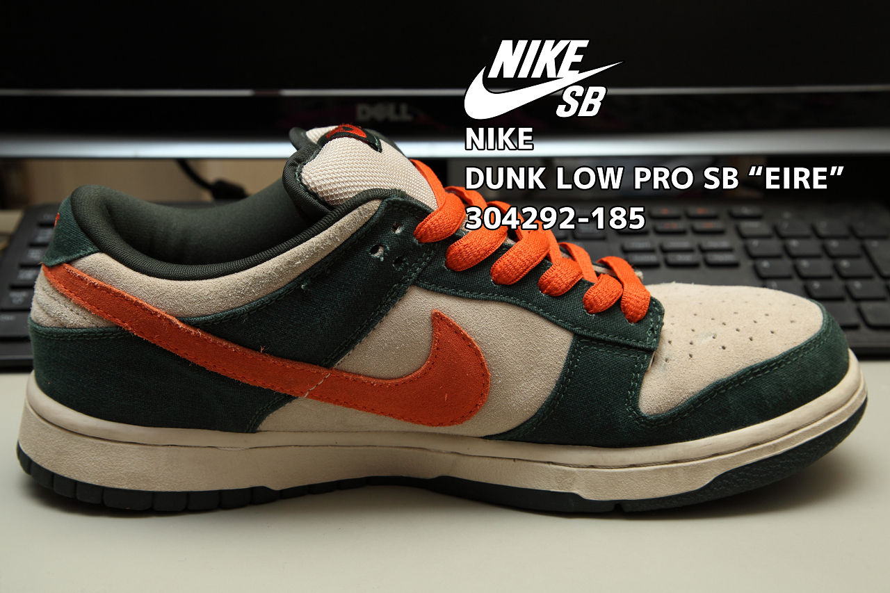 "low priced 4e607 112a2 NIKE DUNK LOW PRO SB ""EIRE"" 304292-185 