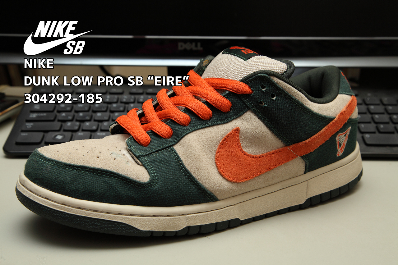 """low priced 7db5d bfd7c NIKE DUNK LOW PRO SB """"EIRE"""" 304292-185 