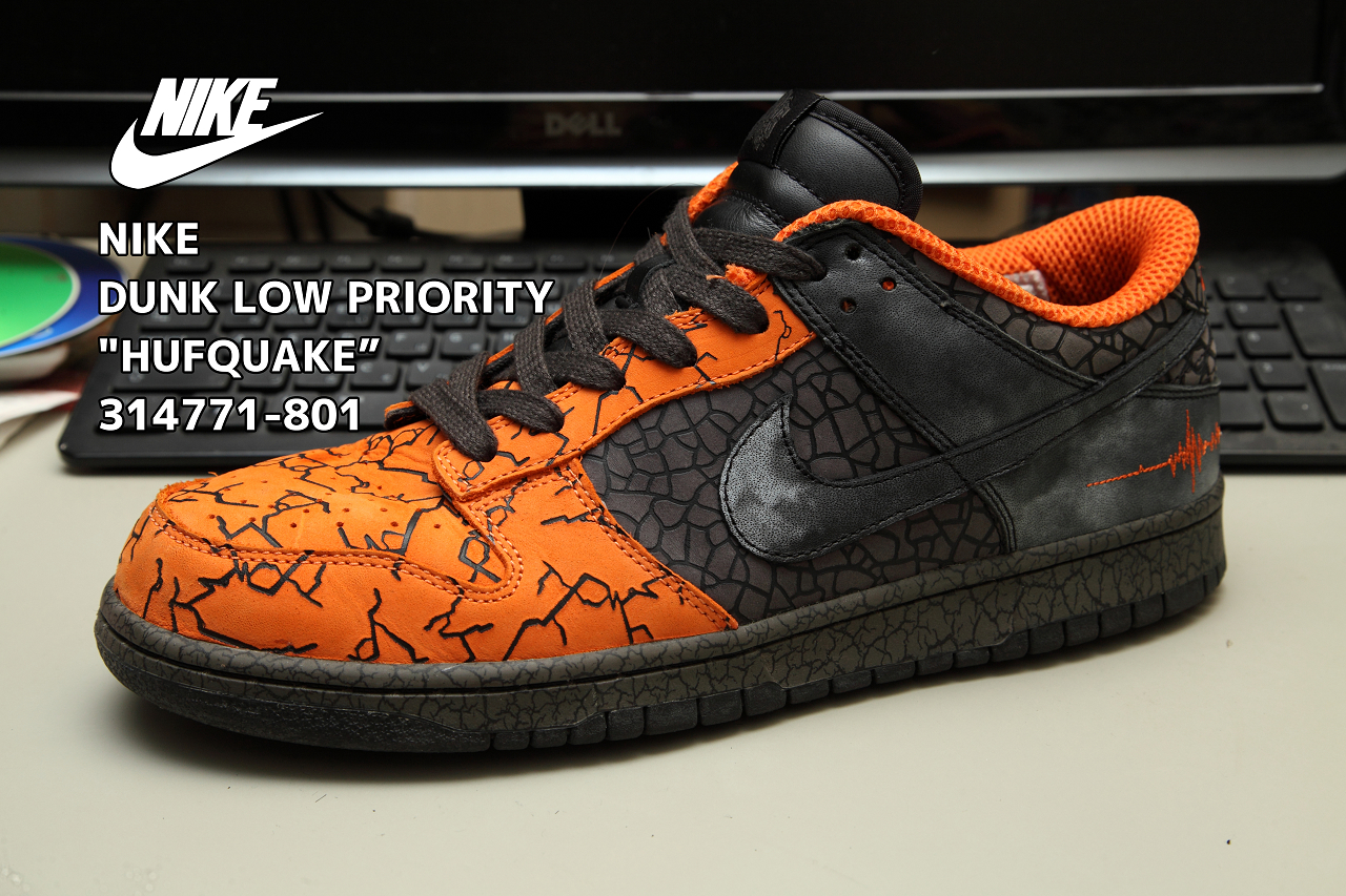 """size 40 7858a d68d8 ... NIKE DUNK LOW PRIORITY """"HUFQUAKE"""" 314771-801 ..."""