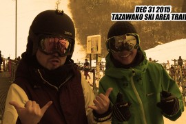 2015 12 31 TAZAWAKO SKI AREA TRAILER